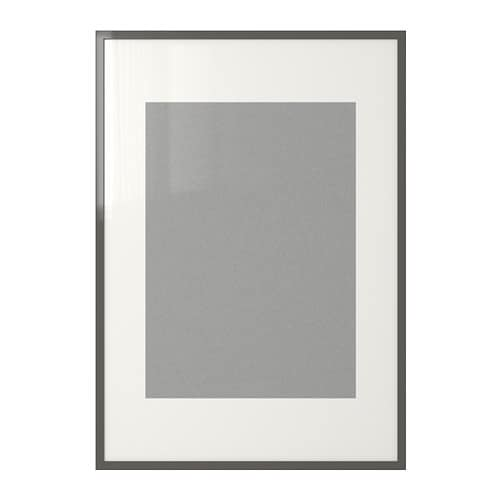 Ribba frame high gloss gray ikea - Ikea riba ...