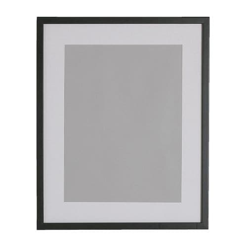 RIBBA Frame IKEA The mat enhances the picture and makes framing easy.  PH-neutral mat; will not discolor the picture.