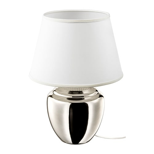 RICKARUM Table lamp with LED bulb, silver color