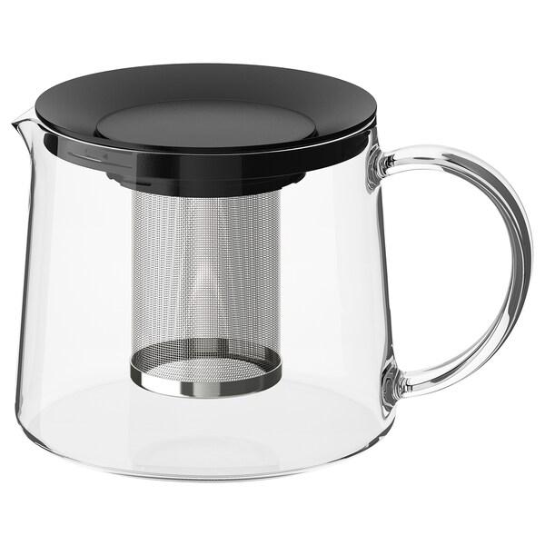 RIKLIG Teapot, glass, 1.6 qt