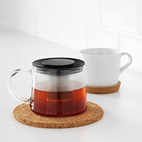 RIKLIG Teapot, glass, 0.6 qt