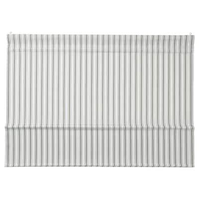 """RINGBLOMMA Roman blind, white/green/stripe, 34x63 """""""
