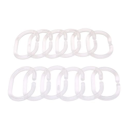 RINGSJÖN Shower curtain rings, clear clear -
