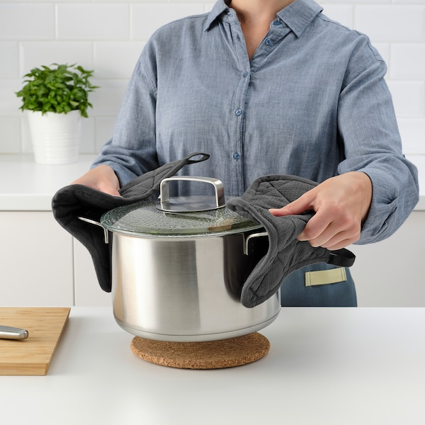 """RINNIG Pot holder, gray, 8x8 """""""