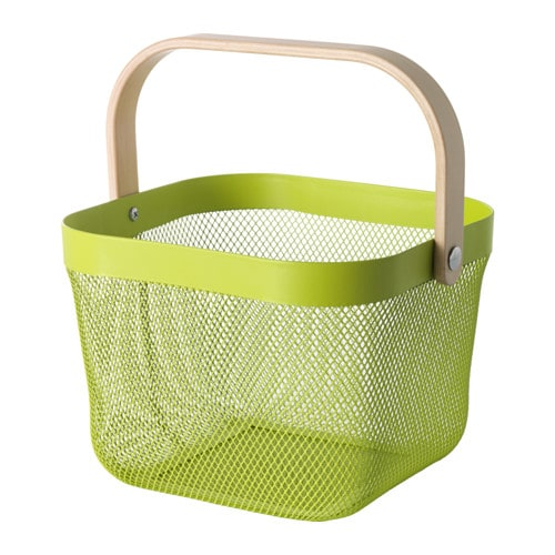 RISATORP Wire basket IKEA This basket makes it easy to access and get an overview of your fruit and vegetables, and has a decorative look.