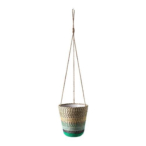 RISKORN Hanging planter , green Outside diameter: 6 ¾