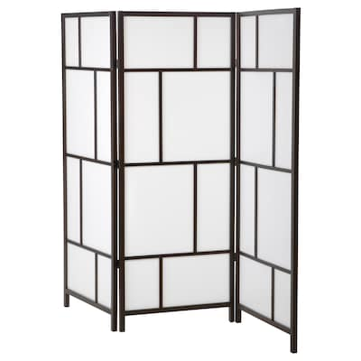 RISÖR Room divider, white/black, 85x72 7/8 ""