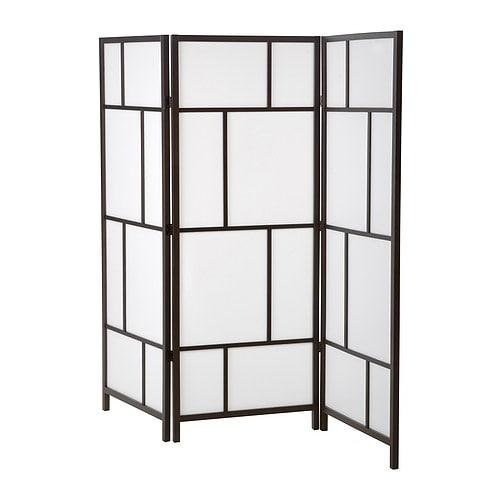 RISÖR Room divider, white, black white/black 85x72 7/8