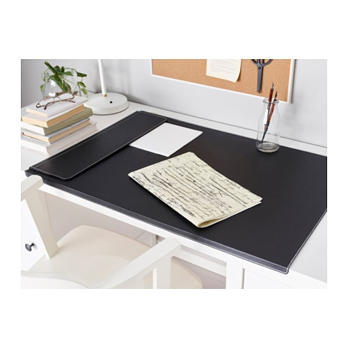 RISSLA Desk pad IKEA The bent front edge keeps the desk pad in place.