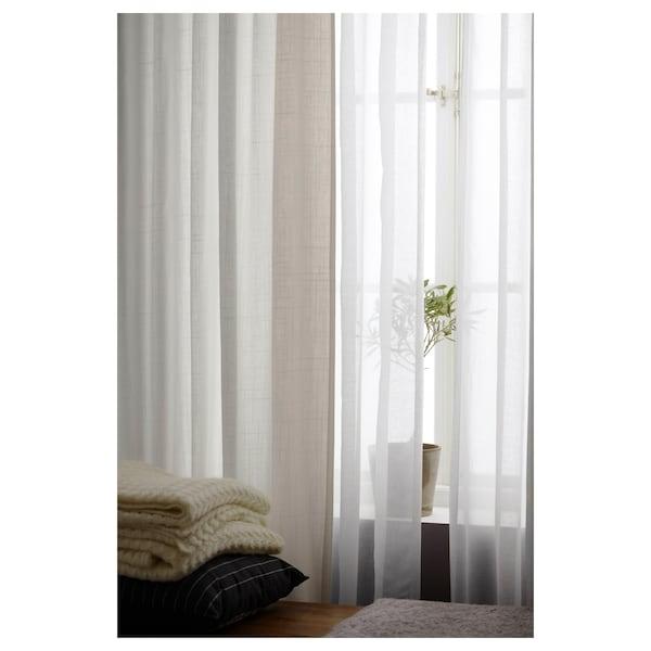 "RITVA curtains with tie-backs, 1 pair white 118 "" 57 "" 5 lb 5 oz 46.82 sq feet 2 pack"