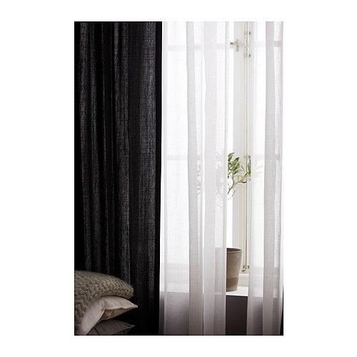 RITVA Curtains with tie-backs, 1 pair - 57x118