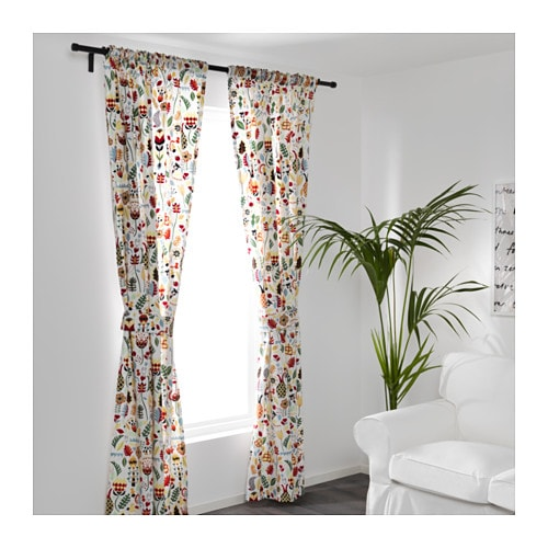 RÖDARV Curtains With Tie Backs, 1 Pair   IKEA