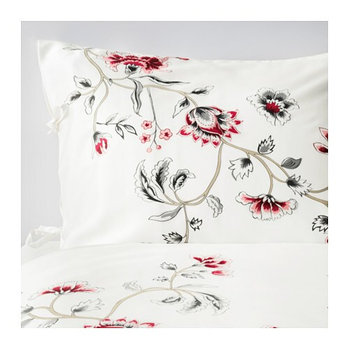 RÖDBINKA Duvet cover and pillowcase(s) IKEA Sateen-woven bed linen in lyocell has a pronounced luster, feels soft as silk and is pleasant to sleep in.