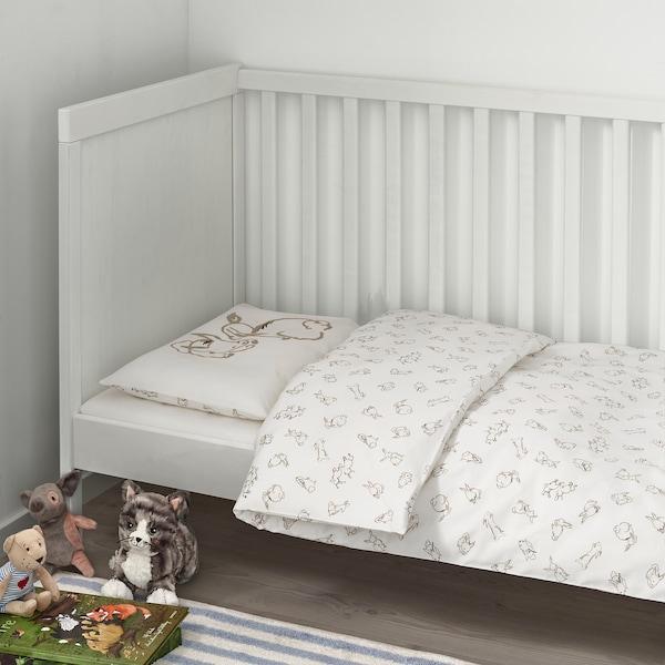 IKEA Rorande Crib Duvet Cover//Pillowcase Cars Blue 43x49//14x22 004.625.62