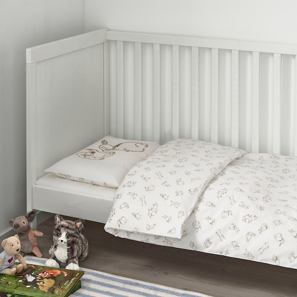 IKEA RÖDHAKE Crib duvet cover/pillowcase