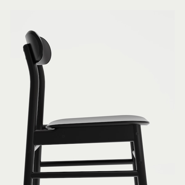 "RÖNNINGE chair black 243 lb 18 1/8 "" 19 1/4 "" 31 1/8 "" 16 1/8 "" 16 1/8 "" 17 3/4 """