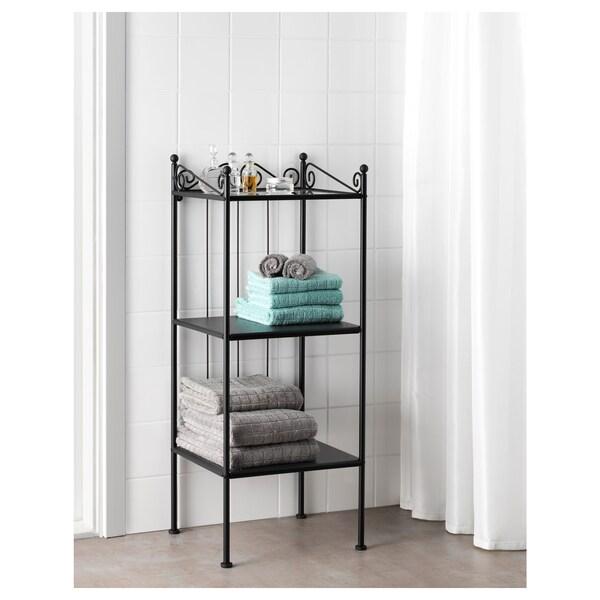"""RÖNNSKÄR Shelf unit, black, 16 1/2x40 1/2 """""""