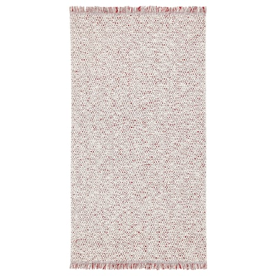 RÖRKÄR Rug, flatwoven, red/natural, 31 1/2x59 ""