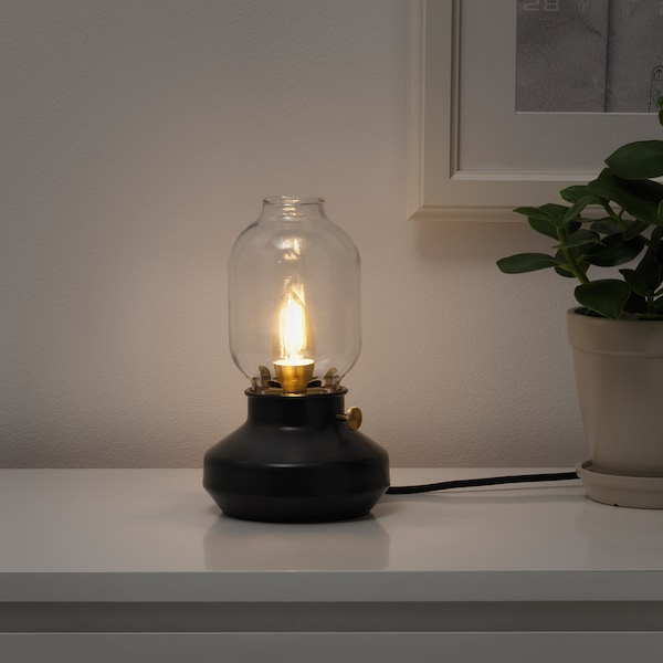 ROLLSBO LED bulb E12 200 lumen, dimmable/chandelier brown clear glass, 2200 K