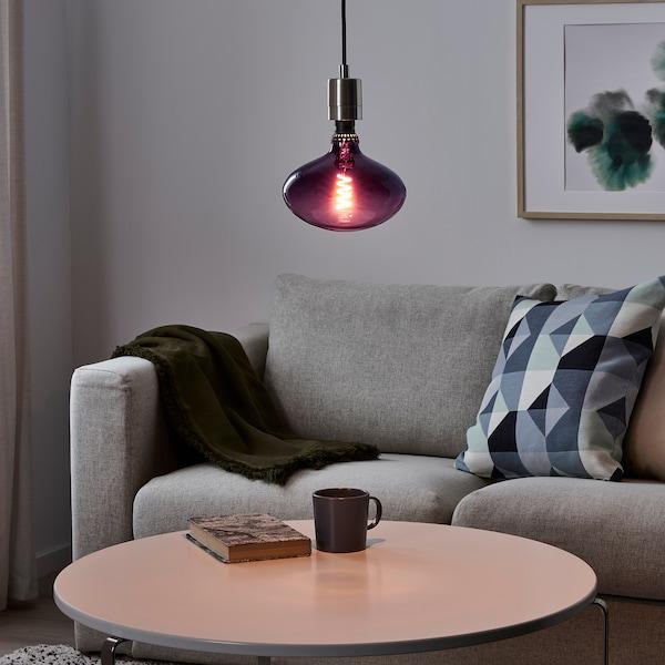 """ROLLSBO LED bulb E26 50 lumen, dimmable ellipse shaped/dark purple clear glass, 7 """""""