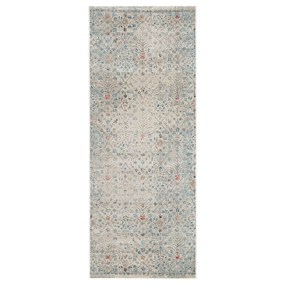 "ROMDRUP Rug, low pile, beige antique look/floral patterned, 2 ' 7 ""x6 ' 7 """