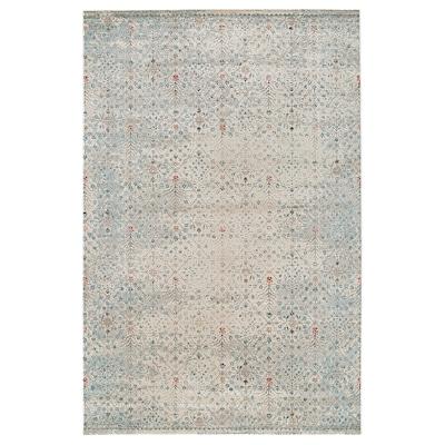 "ROMDRUP Rug, low pile, beige antique look/floral patterned, 6 ' 7 ""x9 ' 10 """