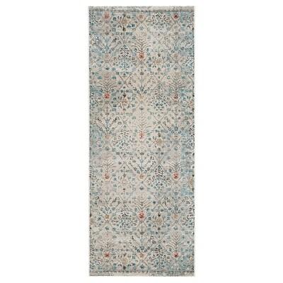 "ROMDRUP rug, low pile beige antique look/floral patterned 6 ' 7 "" 2 ' 7 "" ½ "" 17.22 sq feet"