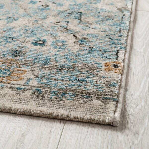 "ROMDRUP rug, low pile beige antique look/floral patterned 9 ' 10 "" 6 ' 7 "" ½ "" 64.58 sq feet"