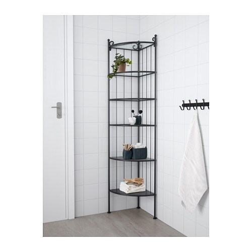 Ronnskar corner shelf unit black  0380527 pe555426 s4