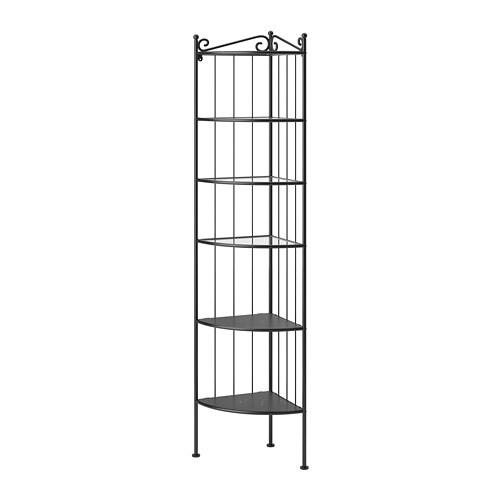RÖNNSKÄR Corner shelf unit, black black -