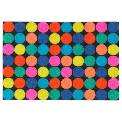 "RORSLEV Door mat, multicolor, 1 ' 4 ""x2 ' 0 """