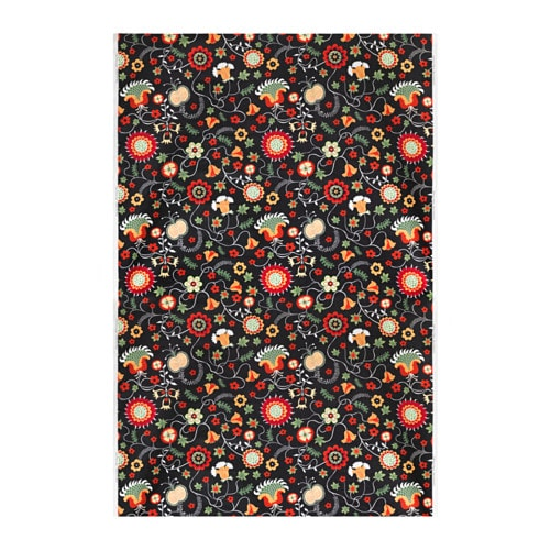 ROSENRIPS Fabric, black, multicolor