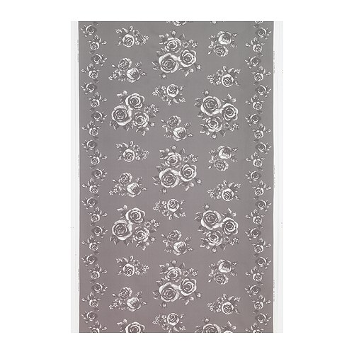 "ROSMARIE Fabric gray/white Width: 59 "" Pattern repeat: 36 ""  Width: 150 cm Pattern repeat: 91 cm"