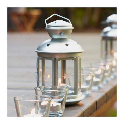 "ROTERA Lantern for tealight, indoor/outdoor galvanized, 8 ¼ """