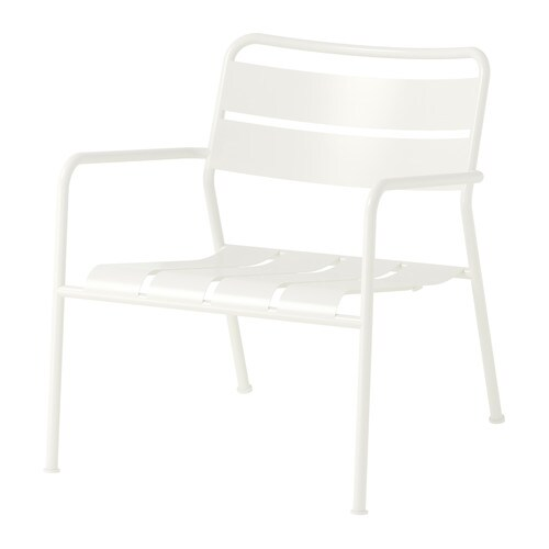 ROXÖ Armchair IKEA The materials in this outdoor furniture require no maintenance.  Stackable.   Saves space when stored.