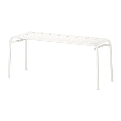 ROXÖ Bench IKEA The materials in this outdoor furniture require no maintenance.  Easy to keep clean; simply wipe with a damp cloth.