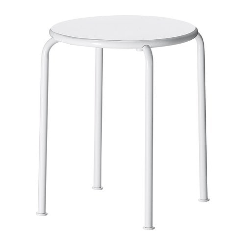ROXÖ Stool IKEA The materials in this outdoor furniture require no maintenance.  Stackable.   Saves space when stored.