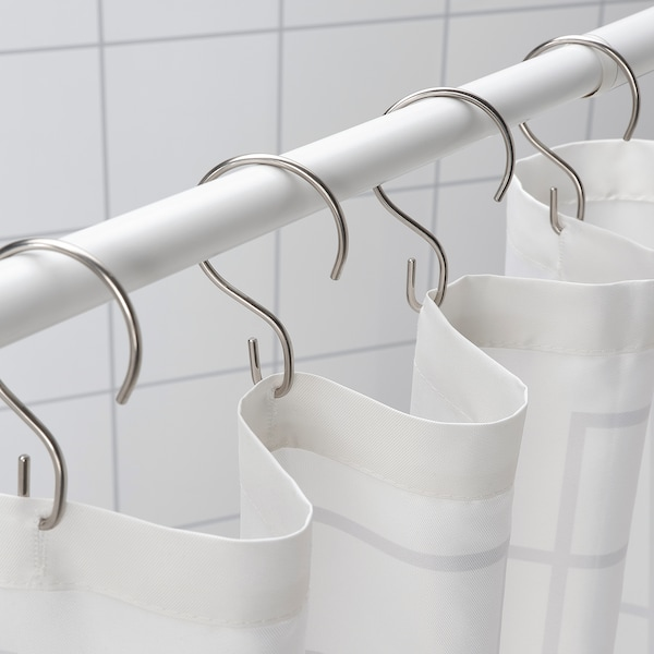 Rudsjön Shower Curtain Rings Stainless Steel Color Ikea