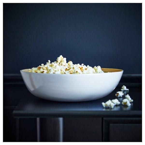 """RUNDLIG Serving bowl, bamboo/white, 11 ¾ """""""