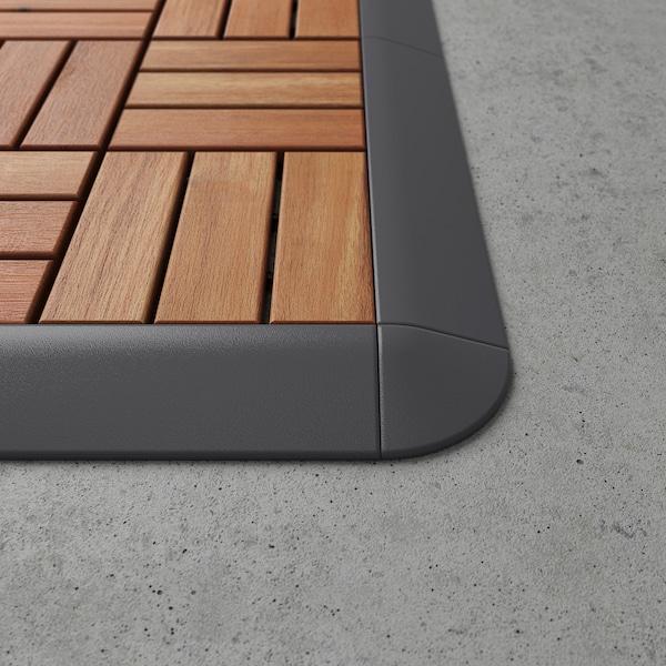 RUNNEN Corner edge, outdoor decking, dark gray