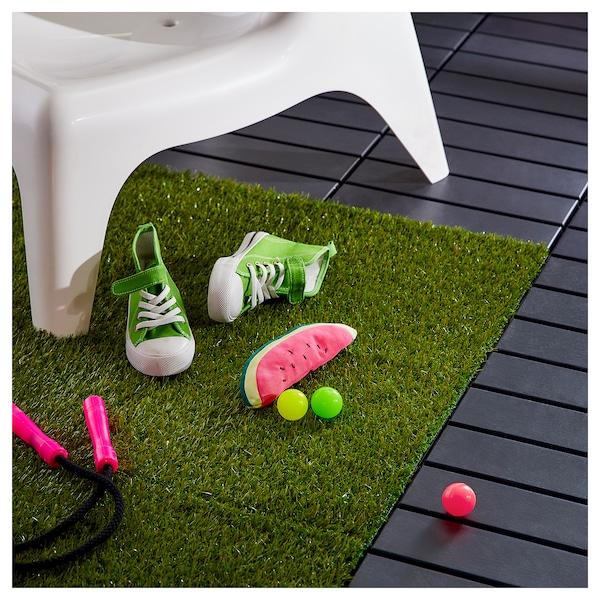 RUNNEN Decking, outdoor, artificial grass, 9 sq feet