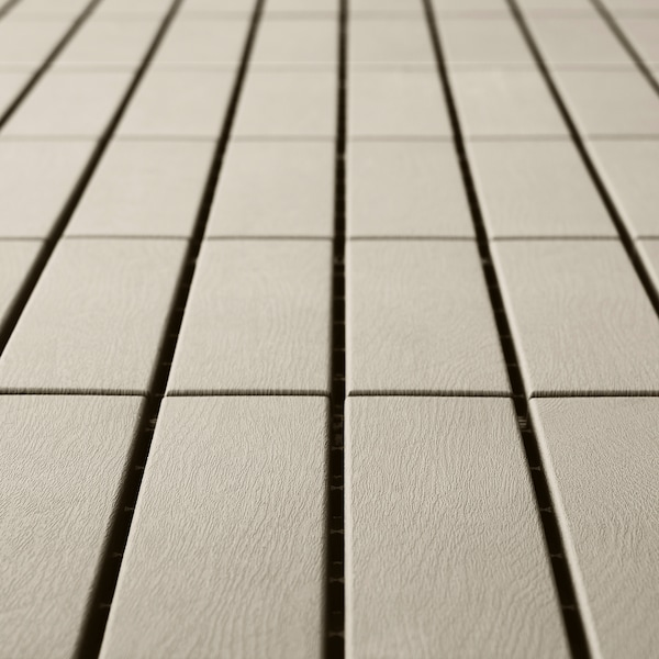 RUNNEN Decking, outdoor, beige, 9 sq feet