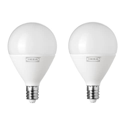 RYET LED bulb E12 400 lumen, globe opal globe opal -