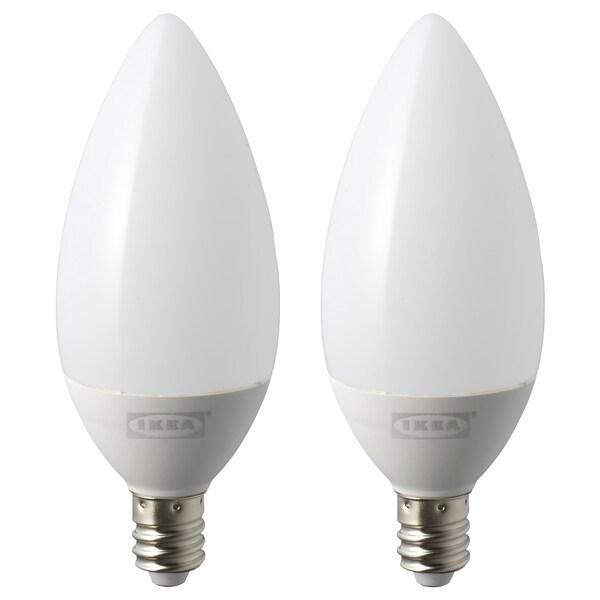 RYET LED bulb E12 200 lumen, chandelier opal