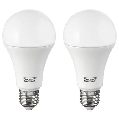 RYET LED bulb E26 1600 lumen globe opal 2700 K 1600 Lumen 16.0 W 2 pack
