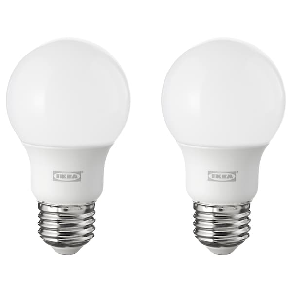 RYET LED bulb E26 600 lumen, globe opal