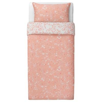 RYLTÅG Duvet cover and pillowcase(s), pink, Twin