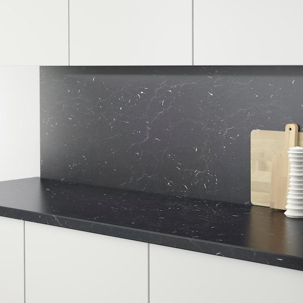 """SÄLJAN Countertop, black marble effect/laminate, 74x1 1/2 """""""