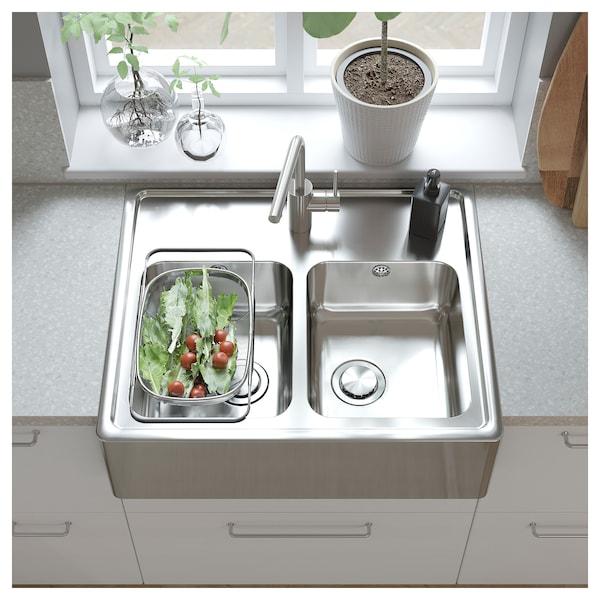"SÄLJAN Countertop, light gray mineral effect/laminate, 74x1 1/2 """
