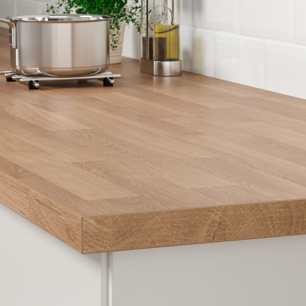 SÄLJAN Countertop, oak effect/laminate, 98x1 1/2 ""